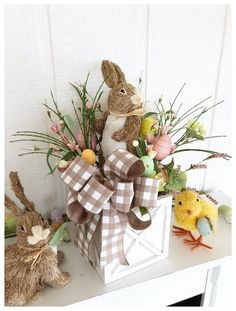 48 Rustic Easter Decorations Bringing a Farmhouse Appeal to Your Home - Page 4 o. 48 Rustic Easter Decorations Bringing a Farmhouse Appeal to Your Home – Page 4 of 48 – Ciara Decor Easter Party, Easter Gift, Easter Crafts, Holiday Crafts, Easter Bunny, Easter Table, Easter Eggs, Bunny Crafts, Easter Tree Decorations