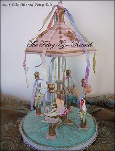 Fairy go round Diy And Crafts, Arts And Crafts, Paper Crafts, Beautiful Fairies, House Beautiful, My Bubbles, Fairy Furniture, Fairy Doors, Assemblage Art