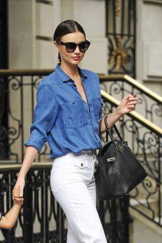 Come indossare il denim? Seguite l'esempio delle celebrities! La supermodel Miranda Kerr e la cantante Gwen Stefani scelgono G-Star RAW. GET THE LOOK!