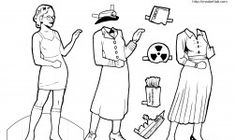 Science Paper Dolls! Have students create their doll then write a science story from their perspective.  Or create a diorama explaining the topic related to the scientist.