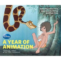Disney Year of Animation 2016 Desk Calendar | $14.99 | From Snow White to Brave , Disney Year of Animation Desk Calendar features a daily full-color image from one of Disney or Pixar's iconic feature films, accompanied by insider information, trivia, plot notes, or quotes from the film.