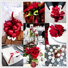 red and grey wedding | Inspiration Board: Red, Grey and White Wedding | studioCAPTURE.com ...