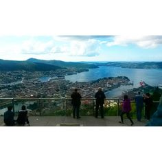"""Up on the hill at 340 m  #travel #adventure #Norway #bergen #hill #view #sohigh"""