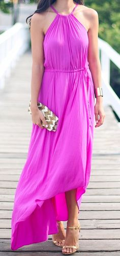 Such a bright beautiful pink with gold