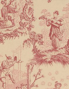 Chinese Toile wallpaper from Lewis and Wood