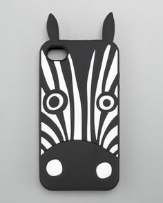 MARC by Marc Jacobs Julio Zebra iPhone 4 and 4s Case - Neiman Marcus