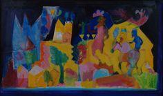 Ελ: 2005, τέμπερα σε χαρτόνι και σε κοντραπλακέ, 65x110εκ / En: 2005, tempera on cardboard and on plywood, 65x110cm Artwork, Painting, Work Of Art, Auguste Rodin Artwork, Painting Art, Artworks, Paintings, Painted Canvas, Illustrators