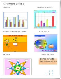 "Unidad 13 de Matemáticas de 1º de Primaria: ""Sumas llevando de 2 cifras"" Bar Chart, Diagram, Interactive Activities, Unity, United States, Bar Graphs"