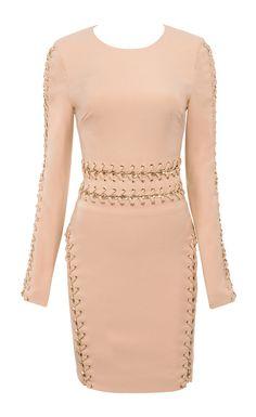House of CB chain detail long sleeve mini dress.