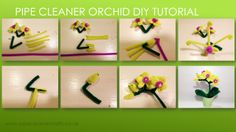 pipe cleaner orchid diy tutorial by www.pipecleanercrafts.co.uk VIDEO tutorial is available here: http://www.pipecleanercrafts.co.uk/#!orchid-video-diy/ch1b