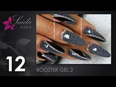 Booster Gel 2 - Snake Skin Nailart (Nailart leicht gemalt | Saida Nails) - YouTube