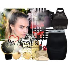 night out by lakeshia-barnett on Polyvore featuring Boohoo, Forever New, Agent Provocateur, Glamorous, Love Moschino, Larsson & Jennings, Linda Farrow, Goldgenie, Topshop and Vellum