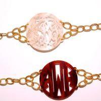 Monogrammed Acrylic Jewelry