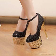 Waterproof diamond Silver 16 cm High Heel Shoes