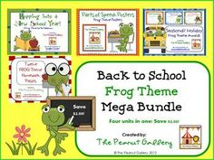 This 155 page mega bundle includes four of my frog theme packs at a discounted rate. It includes resources to get your classroom ready with a frog theme such as classroom decor, parts of speech posters, student awards, and homework passes. ($)