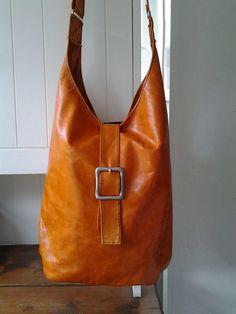 Orange soft leather bag £82.00