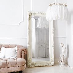 Just another gorgeous picture The French Bedroom Company are loving on Instagram: White morning... @frenchbedroomcompany #white #frenchstyle #frenchbedroom #feathers #featherlamp #lighting #relax by mineheartdesign