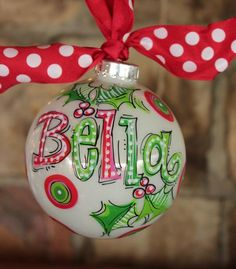 Our First Christmas Ornament, Painted Christmas Ornaments, Felt Christmas Decorations, Hand Painted Ornaments, Christmas Crafts, Grinch Christmas, Homemade Christmas, Christmas Globes, Christmas 2015