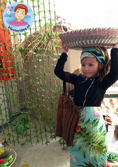 Afrikaanse hut,kleuteridee, thema Afrika, kindergarten Africa theme.