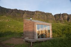 "cabinporn: ""Art residency space on the Isle of Eigg, Scotland. The structure is part of The Bothy Project, which is building a network of small-scale spaces throughout Scotland. Here's another one near Aviemore we featured previously. Contributed by. Cabin Homes, Log Homes, Condo, Tiny House Community, Off Grid Cabin, Bothy, Narrow House, Getaway Cabins, Little Houses"