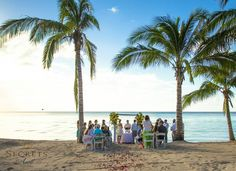 A intimate destination wedding on the beach at Sunscape Sabor Cozumel.
