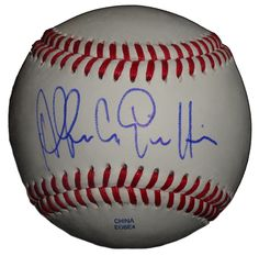 Alfredo Griffin Autographed Rawlings ROLB1 Leather Baseball, Proof Photo