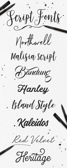 So many great styles to choose from! Check out out Creative Market for 1000+ handwritten script fonts.