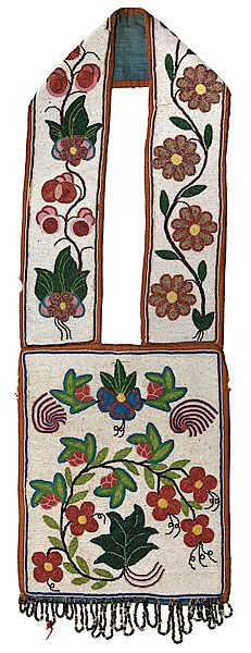 bandolier bags for auction | Chippewa Beaded Bandolier Bag, - Cowan's Auctions