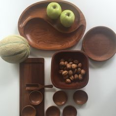 Eyecatching vintage wooden Tableware! Just stylish and unbreakable. Outstanding in a white kitchen or some white porcelain - by ChrisVintageStyle