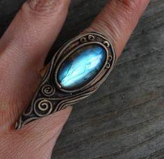 FREE SHIPPING Labradorite Raw Ring Labradorite Adjustable Ring Healing Jewellery