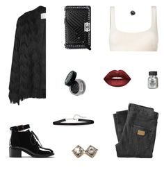 """Don't Confess"" by belenloperfido ❤ liked on Polyvore featuring Yeezy by Kanye West, Just Junkies, Chanel, Lime Crime, Yves Saint Laurent, Chan Luu and Bavna"