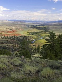 Laramie River just past the Colorado border in Wyoming