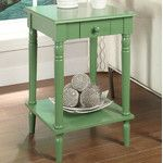Woodland Imports Round End Table & Reviews | Wayfair