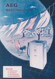Retro-Look: die AEG-Standardwaschmaschine 1953