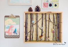 Diorama de un bosque. Tea on the moon para Kireei magazine Baby Crafts, Diy And Crafts, Arts And Crafts, Paper Crafts, Diorama Kids, Art Projects, Projects To Try, Matchbox Art, Nature Crafts