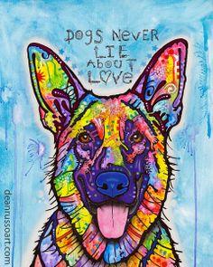Dogs Never Lie... http://www.deanrussoart.bigcartel.com/product/dogs-never-lie-print