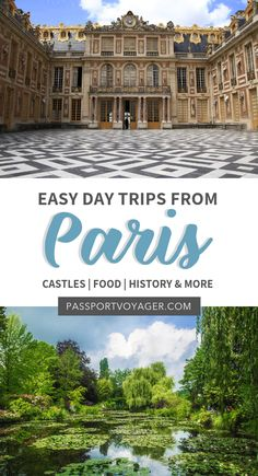 Looking for some day trips from Paris to make a quick escape from the hustle and bustle of the city? Check out 15 of the easiest day trips from Paris in our brand new guide! Paris Travel Guide, Europe Travel Tips, European Travel, Travel Guides, Travel Destinations, Traveling Europe, European Vacation, Travelling, Eurotrip