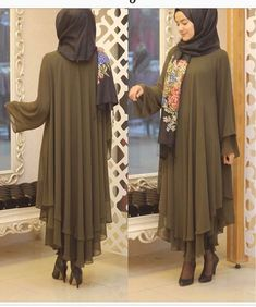 Hijab Outfit, Hijab Style Dress, Hijab Chic, Abaya Fashion, Muslim Fashion, Modest Fashion, Fashion Dresses, Abaya Mode, Mode Hijab