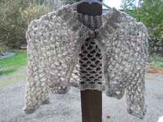 Girls Off White with Earth Tones Bolero Crocheted by SuzannesStitches, Baby Girl Bolero, Teen Off White Bolero, Baby Girl Shrug, Girls Shrug by SuzannesStitches on Etsy