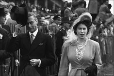 George VI, king of Great Britain, and his daughter Princess Elizabeth
