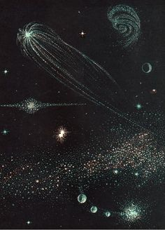 """Scans from vintage astronomy book """"All About the Stars"""" by Anne Terry White, illustrated by Marvin Bileck, You Are My Moon, Retro Poster, My Sun And Stars, Space And Astronomy, Space Travel, Pretty Pictures, Aesthetic Pictures, Wall Collage, Cosmos"""