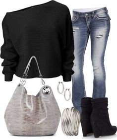Very cute. Love the shirt and purse!