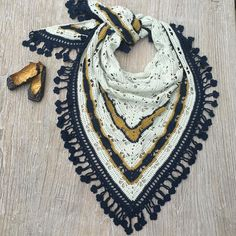 #crochet #crochetscarf #crochetshawl  #hæklet by jannemiller