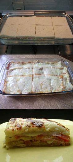 Lasanha de pão de forma deliciosa #lasanha #lasanhadepão#comida #culinaria #gastromina #receita #receitas #receitafacil #chef #receitasfaceis #receitasrapidas