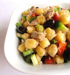 THERMOMIX: Salada de grão de bico com atum