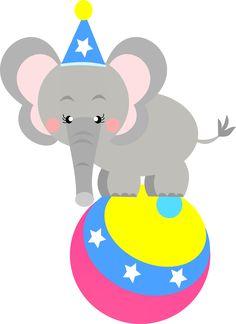 Elefante circo Montando a minha festa