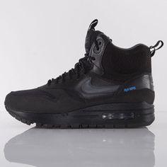 Nike buty WMNS Air Max 1 Sneakerboot black / dark grey - metallic silver (685267-001)