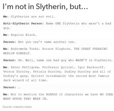 I'm in slytherin and gryffindor Harry Potter Puns, Harry Potter Marauders, Harry Potter Universal, Harry Potter World, Slytherin Pride, Ravenclaw, Slytherin House, Regulus Black, Best Of Tumblr