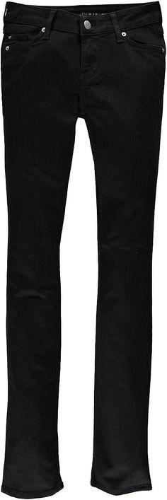 Klassische 5-Pocket Jeans mit eng verlaufender Beinform und normaler Leibhöhe. Eine ideale Stiefelhose. Black Black Stretch Denim: 98 % Baumwolle, 2 % Elasthan....