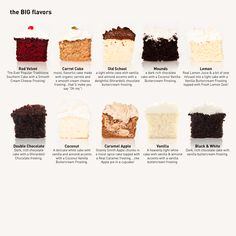 the BIG cupcake flavours